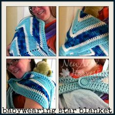 Babywearing Star Blanket by NewAcreHarvest on Etsy