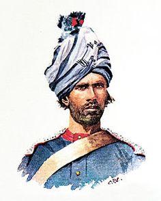 1st (Prince Albert Victors Own) Punjab Cavalry 1900. British Indian Army.