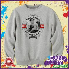George Foreman Boxing Champion All Star Knockout Retro Mens Sweatshirt Our Price: George Foreman Boxing, Mike Tyson Boxing, Psy Gangnam Style, Most Watched Videos, Korean Flag, Mens Sweatshirts, Hoodies, Boxing Champions, Dope Swag