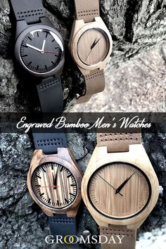Engraved & Personalized Wooden Watches for Men Best Groomsmen Gifts, Groomsman Gifts, Groomsmen Presents, Wooden Watches For Men, Best Watches For Men, Great Gifts For Men, Gifts For Dad, Wine Gift Baskets, Basket Gift