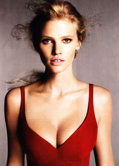Big boobed blonde toothy model in high fashion. Yes. perfect :)