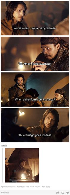 The Musketeers - Grumpy cat Athos