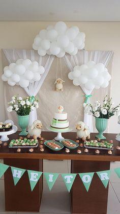 Decoracao De Cha Bebe Ovelha Baby Shower Decorations Themes Decoration Table