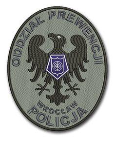 Naszywka, emblemat Policja Oddział Prewencji Wrocław