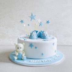 Torta Baby Shower, Baby Shower Cakes For Boys, Baby Boy Cakes, Toddler Birthday Cakes, Baby Boy Birthday Cake, Torta Harley Davidson, Baby Boy Christening Cake, Cake Decorating, Fondant Baby