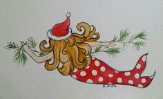 Mermaid Dots Sheila Nash watercolor