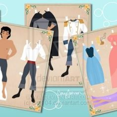 TONS of princess & other popular story Printable Paper Dolls