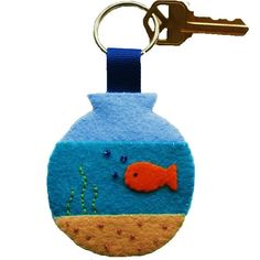 Felt Aquarium Keychain - Set Of 2  This season bring luck into your home with #feltaquariumkeychain available in different colors.