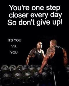 You're one step closer every #day. So #dontgiveup! It's you vs. you! Stay #fit, be #healthy! Try #721nutrition's #organic #superfoods #protein #shake! #fitness #crossfit #motivation #bodybuilding #training #workout #gym