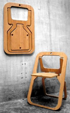 Christian Desile, created this award-winning folding chair from one single slice of board, so it takes up almost no space until you need a seat. #product_design #furniture_design