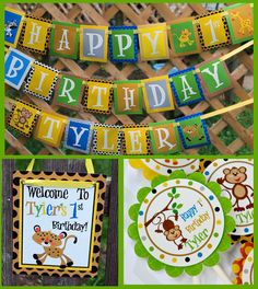 Jungle Safari  Birthday Party Package  by ModernWhimsyParties, $112.40