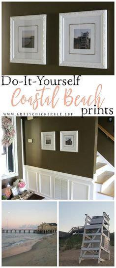 Don't throw out old decor!! Re-create it and then re-love it. It's easy, come see how I gave these old Coastal Beach Prints a new life..for the third time!!