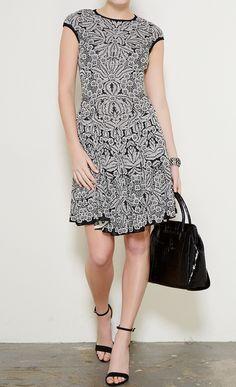Alexander McQueen Black and White dress l Vaunte