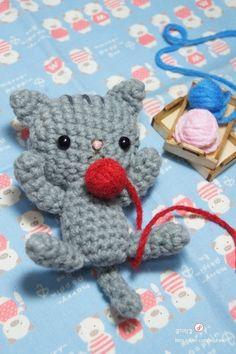 Crochet amigurumi pattern PDF - Kitty cat doll. $3.90, via Etsy.