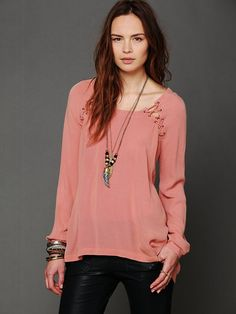 Free People Lace Up Back Top. I like basic styles with a detail that makes it different from the average.