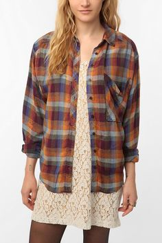 Escote Flannel Shirt, Urban Outfitters