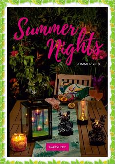 Shops, Catalogue, Neon Signs, Table Decorations, Summer, Inspiration, Partylite, Home Decor, Parfait