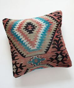 Faded Red Kilim Pillow
