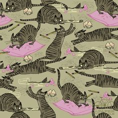 In love with this pattern called Cat Habits by Francesca Buchko.