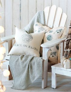 Coastal decor, beach art and furniture. You can improve the natural beauty in your home with splashes of white, as well as beach house decorating ideas.