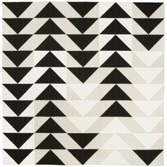 Black and white quilt by Lindsey Stead