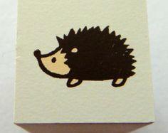 Cute Hedgehog Japanese Rubber Stamp