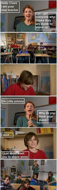 Little Johnny....they speak of him in every education course!!