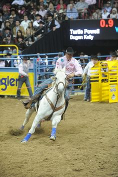 Team roper, Turtle Powell, at the National Finals Rodeo in Vegas. 2012.