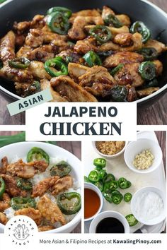 Asian Jalapeno Chicken is easy to make with simple ingredients and less than 30 minutes! A delicious medley of sweet and savory flavors with a kick of spice, it's a full-flavored dish that's sure to hit the spot! #chicken #asianfood #takeoutrecipes #weeknightdinners Asian Chicken Recipes, Easy Chicken Dinner Recipes, Easy Asian Recipes, Spicy Recipes, Healthy Dinner Recipes, Chinese Cooking Wine, Chinese Food, Meals, Recipe Inspiration