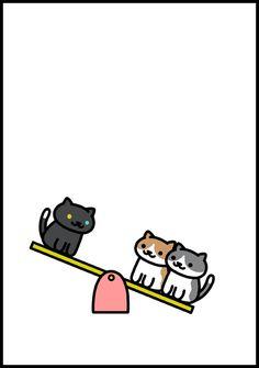 """Aphorism Neko Atsume"" 3 panel cartoon #nekoatsume"