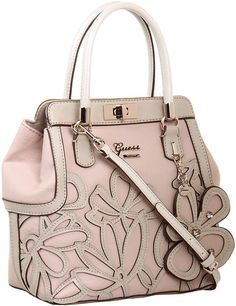 GUESS - Floren Small Satchel (Rose Multi) - Bags and Luggage $120.00 thestylecure.com