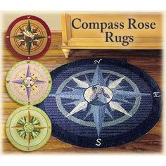 Nautical Comp Rose Rug Round Www Allaboutyouth Net