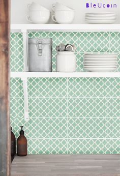 Tile decal :Classic  Moroccan Tile Pattern by Bleucoin on Etsy