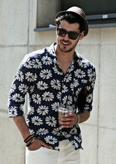 Beach Look Floral Shirts