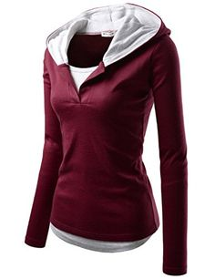 Womens Figure Hugging 2 Tone Double Layer Stretchy Comfy Hoodie ** Continue to the product at the image link. (This is an affiliate link and I receive a commission for the sales) Chic Outfits, Sport Outfits, Fashion Outfits, Fashion Women, Girls Fashion Clothes, Clothes For Women, Suits For Women, Jackets For Women, Comfy Hoodies