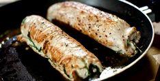Putenroulade gefüllt mit Rucola und Schafkäse dazu Couscous