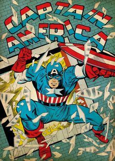 8 best Marvel 80th Anniversary Captain America Displate