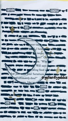 Blackout poetry ~~~ Night brings end To time Hope in her had left ~~~ DO NOT REMOVE THIS CREDIT PLZ AND THX!!! ~~~ @gallantlygabbz
