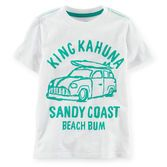 Perfect for beach bums, little fisherman and west coast surfers, these graphic tees will have him daydreaming of sand in his toes.<br>