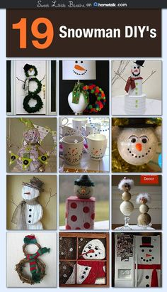 19 Snowman DIY's ~ perfect for these snowy cold days!