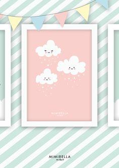 Bild+Kinderzimmer+Wolke+Mädchen+von+Mimirella+auf+DaWanda.com