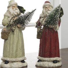 Santa Statue with Christmas Tree