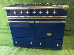 Lovely Lacanche Range cooker. Double Oven. Cluny Model. Blue and brass. In excellent condition and perfect working order. | eBay!