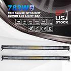 "2x 52Inch 783W Straight LED Light Bar Spot Flood Combo Driving Work Lamp 54"""