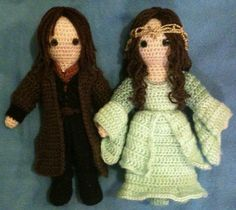"Aragorn and Arwen from ""Lord of the Rings"" - Amigurumi"