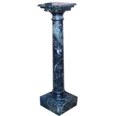 Turn of the 19th Century Marble Pedestal | From a unique collection of antique and modern pedestals and columns at https://www.1stdibs.com/furniture/building-garden/pedestals-columns/