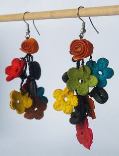 Scented jewelry orange peel coffee beans earrings by Makete, $12.00