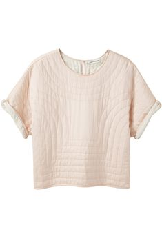 Isabel Marant Étoile Landers Quilted Silk Top.