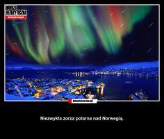 Niezwykła zorza polarna nad Norwegią. » Bezuzyteczna.pl | Codzienna dawka wiedzy…
