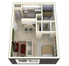 Bay oaks studio apartment 600x571